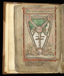 Diagram Of The Shield Of The Trinity, In A Compilation Of John Of Wallingford's Works